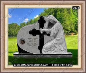 Memorial Benches For Graves Grave Stone C034 Cross Grave Headstones Design