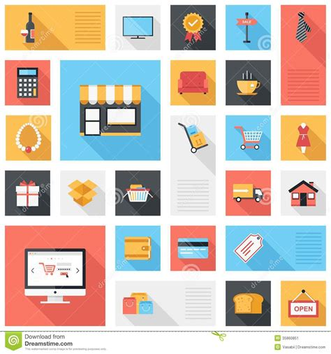 icon design store brunei shopping icons stock image image of award delivery