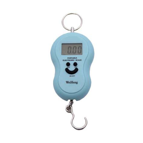 jual timbangan gantung digital 50 kg biru harga