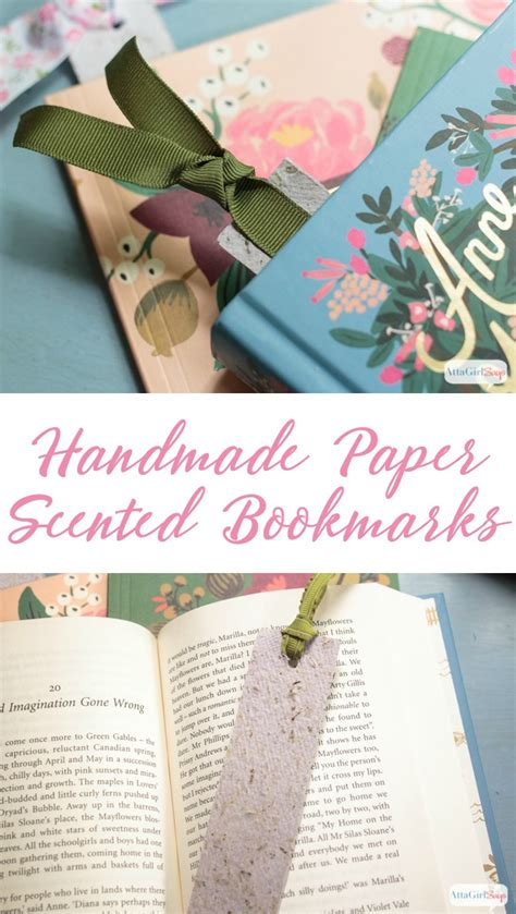 Handmade Paper Bookmarks - diy scented handmade paper bookmarks atta says