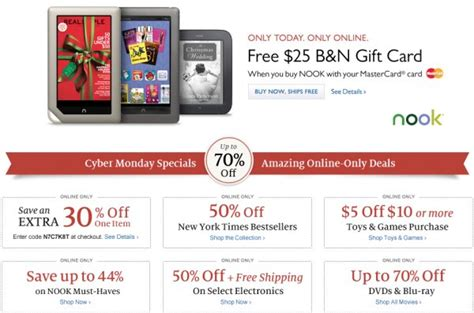 cyber monday barnes and noble reviews ebook readers
