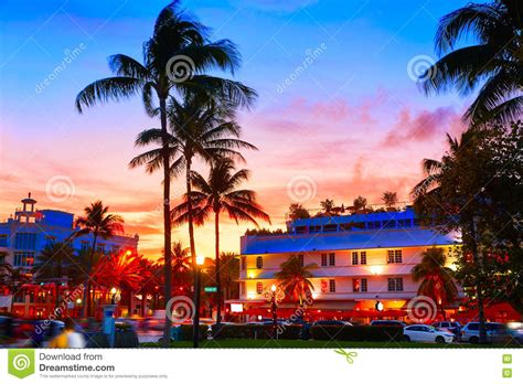 South Florida Detox Sunset by Miami South Sunset Drive Florida Stock Image