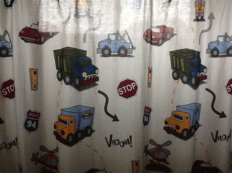 transportation shower curtain even his shower curtain has transportation vehicles the