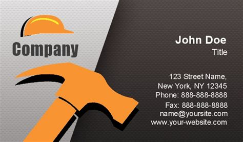 handyman business card templates free printable