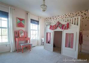 Coral mint and pink little girls room reveal infarrantly creative