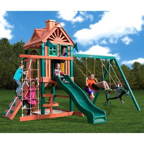 outdoor swing sets costco the five star playset by gorilla playsets 187 welcome to
