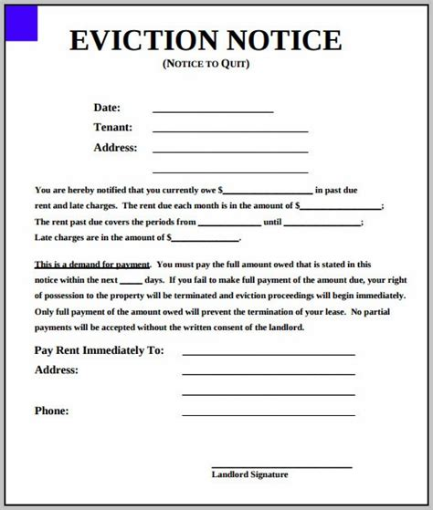 eviction notice template nc eviction notice form south carolina template resume