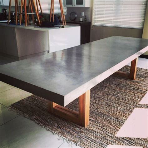 a concrete table top 25 best ideas about concrete table on