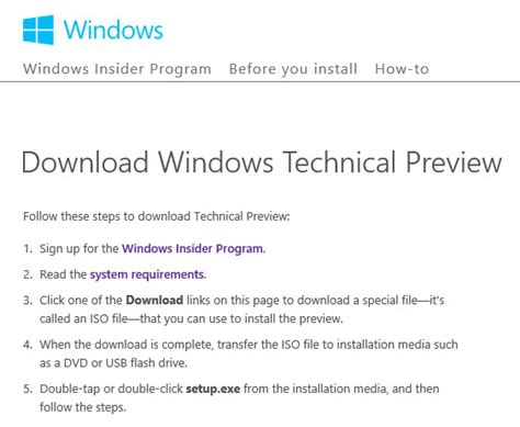 install windows 10 technical preview from usb how to install windows 10 now pc advisor