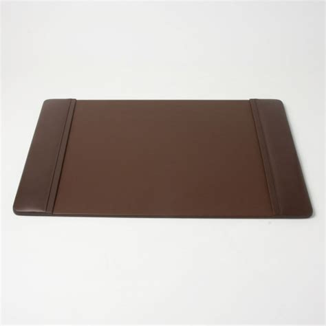 leather desk pad 25 5 x 17 25 chocolate brown desk