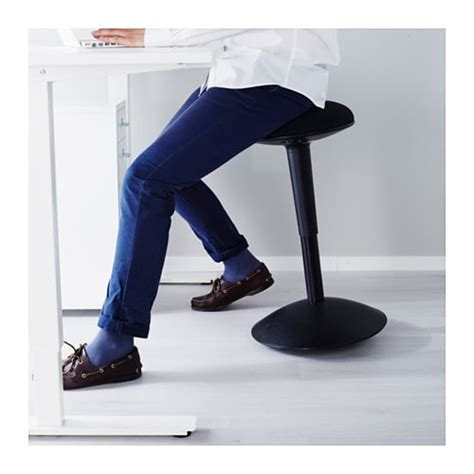 Sit Stand Stool Ikea by Nilserik Standing Support Black Havhult Black Ikea