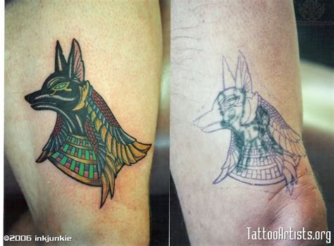 egyptian god tattoos god anubis images