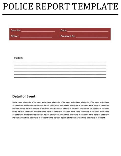 report templates 8 free blank sles template