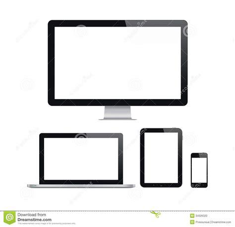 mav mobili modern computer and mobile devices set stock illustration