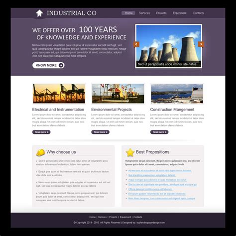 templates for industrial website industrial website template design psd for creating your