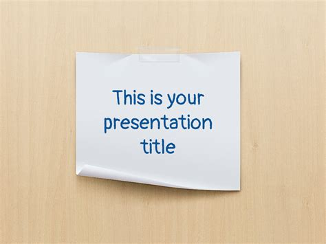 themes for paper presentation free powerpoint template or google slides theme with paper
