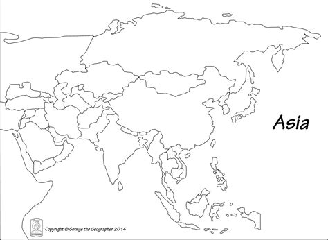 Printable Map Of Asia by Image Gallery Outline Map Of Asia