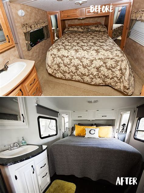 before after pictures of the rv renovation we did on our best 25 rv makeover ideas on pinterest cer makeover