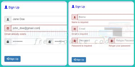 email format check in jquery bootstrap signup form with email availability check using