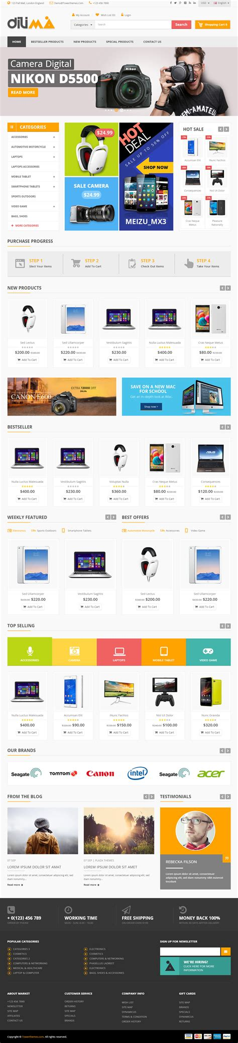 quiz theme bootstrap dilima is premium full responsive opencart ecommerce