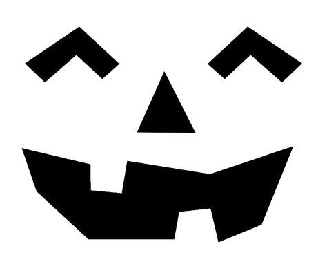 simple printable jack o lantern patterns free printable easy funny jack o lantern face stencils