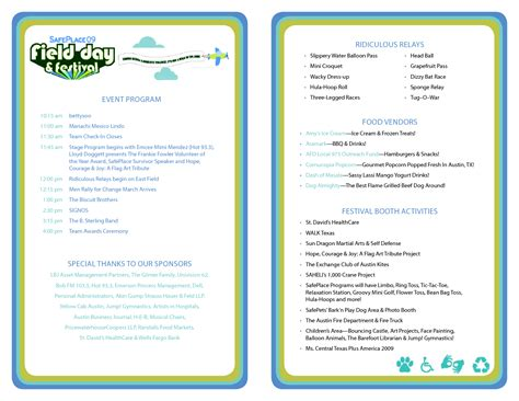 free event program template best photos of template of event program wedding program