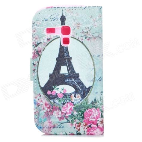 Baterai Samsung Galaxy I8190 8160 S3 Mini J1 Mini Original Sien eiffel tower pattern protective pu leather for