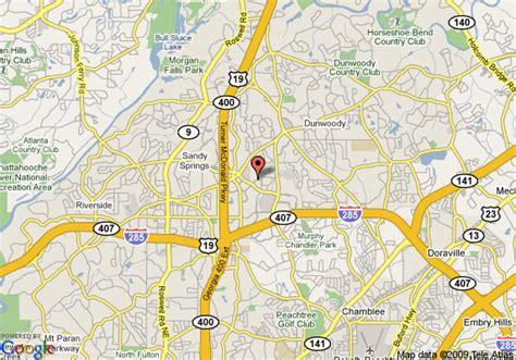 atlanta ga on us map map of embassy suites hotel atlanta perimeter center atlanta