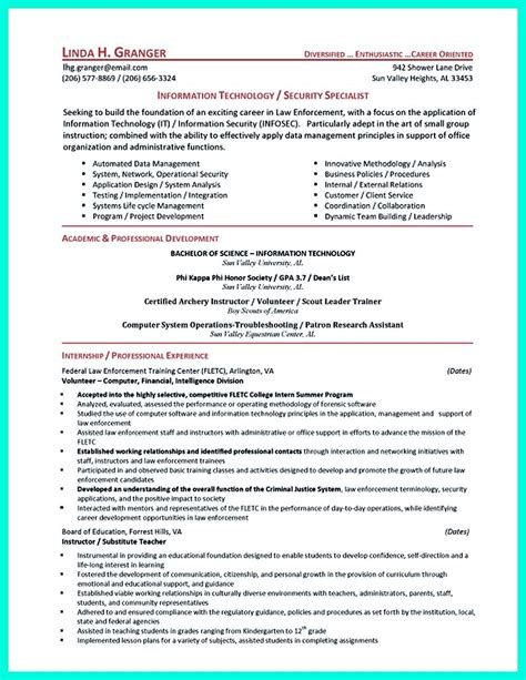 Cyber Security Resume Must Be Well Created To Get The Job Position As What You Want The Job It Security Resume Template