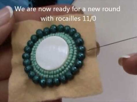 how to do bead embroidery diy tutorial bead embroidery pendant with of pearl