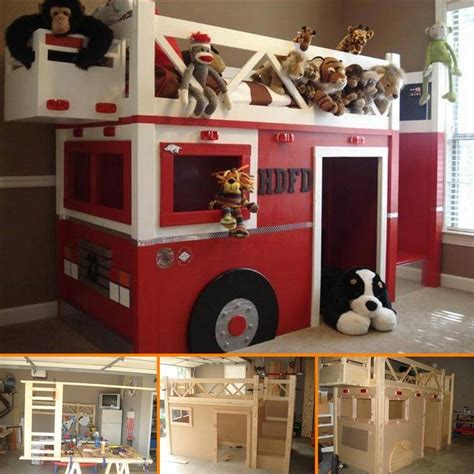 diy fire truck bunk bed find fun art projects