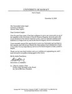 Resignation Letter Academic Position Uh Hawaii News And Island Information