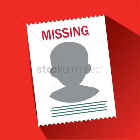 missing person poster vector image 1409153 stockunlimited