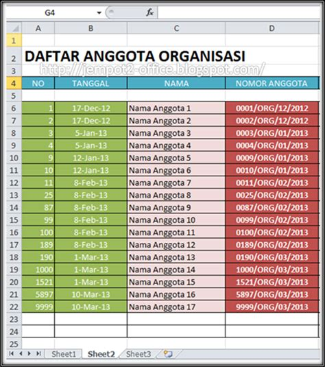 membuat database excel 2010 membuat nomor anggota di ms excel multi contents for all