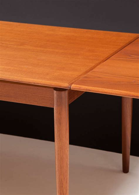 Modern Dining Table With Pull Out Leaves Seats Ten At 1stdibs Pull Dining Table