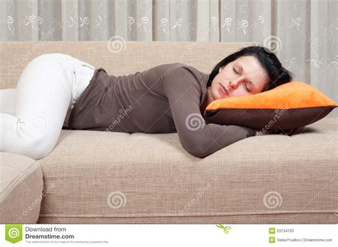 Sleeping On The Sofa by Pretty Sleeping On The Stock Photos Image