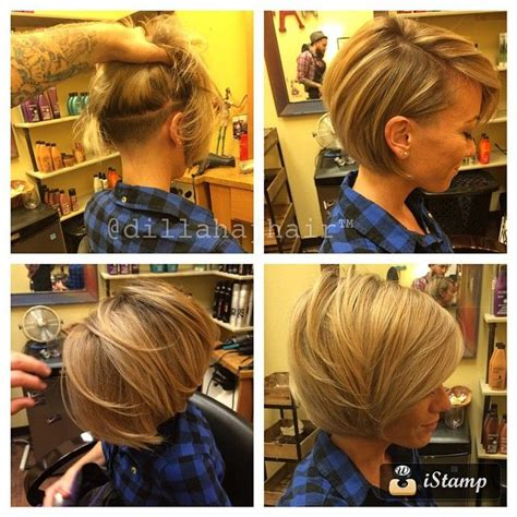 bob haircuts shaved underneath love this hair make up and nails pinterest unique