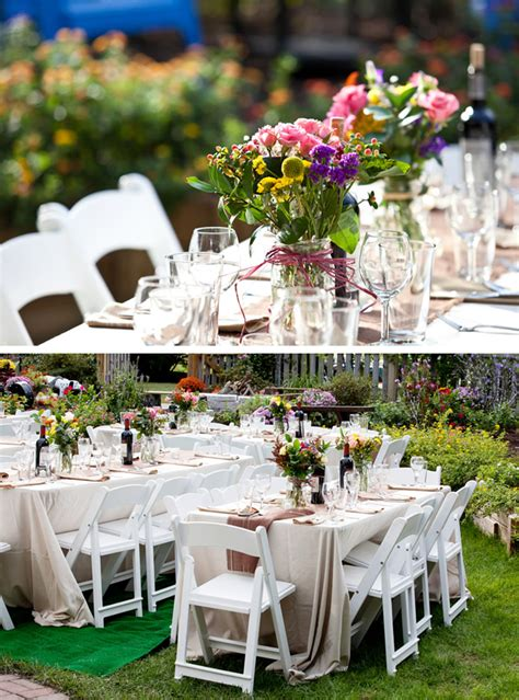 backyard wedding centerpieces backyard wedding centerpiece ideas outdoor furniture