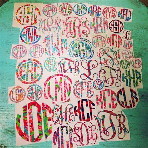 Lilly Pulitzer Monogram Sticker