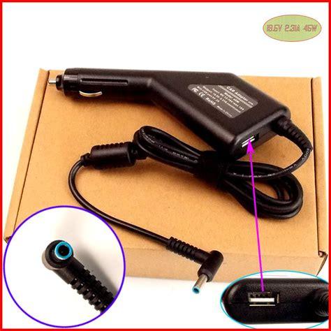 Car Charger Wellcomm 31a laptop dc power car adapter charger 19 5v 2 31a 45w usb port for hp hstnn da35 hstnn la35