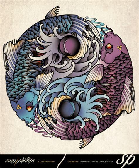 yin yang koi tattoo designs the gallery for gt yin yang koi fish