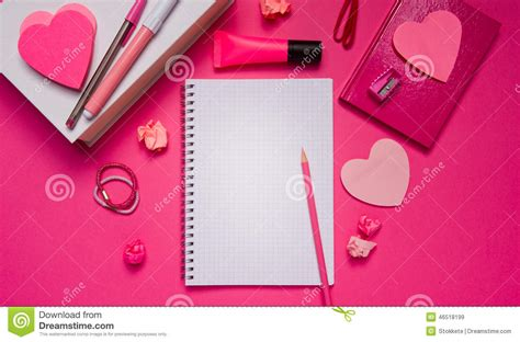 girly notebook wallpaper girly desktop and stationery stock photo image 46518199