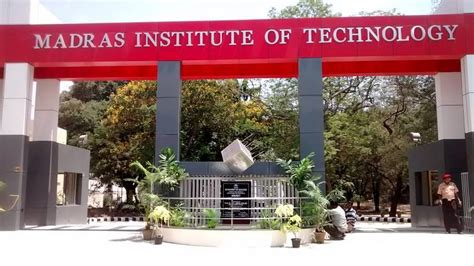 Institute Of Technology Mba Cost by Madras Institute Of Technology Mit