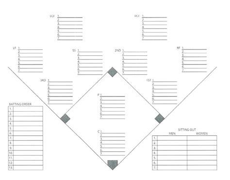 Free Baseball Lineup Card
