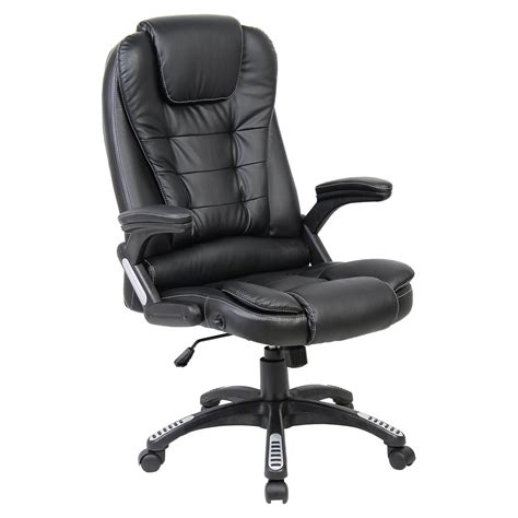 black leather desk chair black luxury reclining executive office desk chair