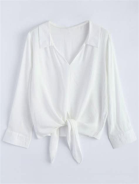Hem Nevada White M oversized hem blouse in white m sammydress