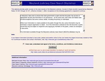 Md Search Maryland Judiciary Maryland Courts Records