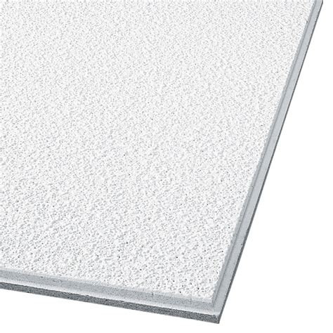Acoustic Drop Ceiling Tiles Shop Armstrong Supertuff Homestyle 12 Pack White Textured