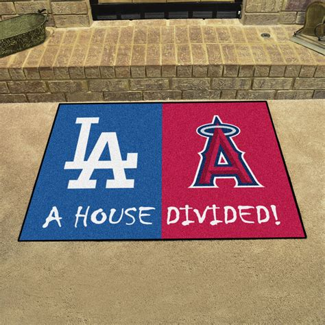 mlb house divided rivalry rug los angeles dodgers los
