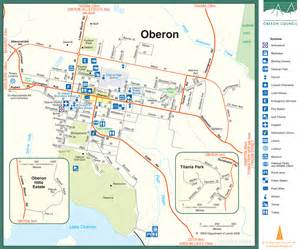Wagga Wagga Botanic Gardens by Township Map Oberon Australia